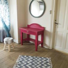 Rød Skrivebord - 90 x 50 x 76 - Antik