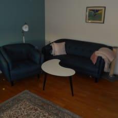 Velholdt sofagruppe med stol