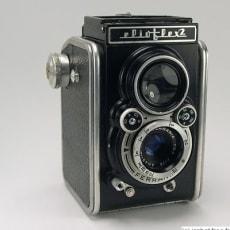 Box kamera, Ferrania Eliotflex, dobbelt linse.