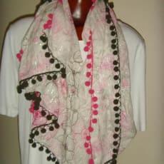 Stort tørklæde 100 x 107