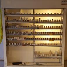 Tobaksskab med gitter