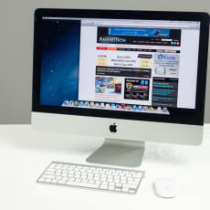 "iMac 21"" late 2013 (den tynde model) m. SSD"
