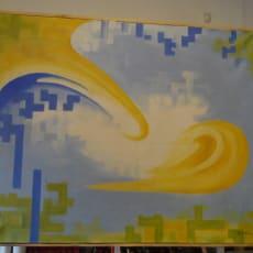 """Kunstværk """"Uden Titel"""", Carl Nielsen – 165x134cm"""