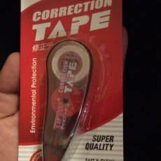 Overstregning tape