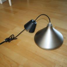 Fed lampe i børstet Alu