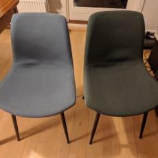 Blå og grøn spisestoler Caroline fra ILVA
