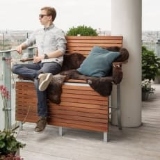 Unik høj bænk/chaiselong til terrassen