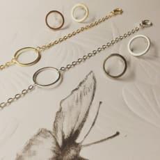 Cirkel smykkesæt (sølv farvet)