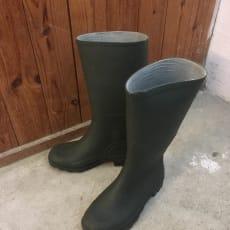 Grønne gummistøvler