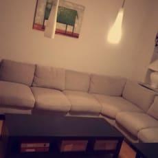 Kæmpe flyder af en sofa