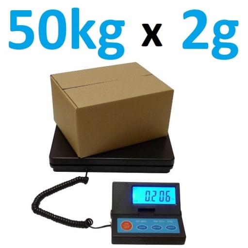 NY! 50kg x 2g Pakkevægt / Digital Platform Scale