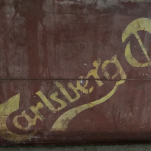 Træ øl kasse fra Carlsberg