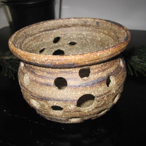 Retro Fyrfadsstage i keramik