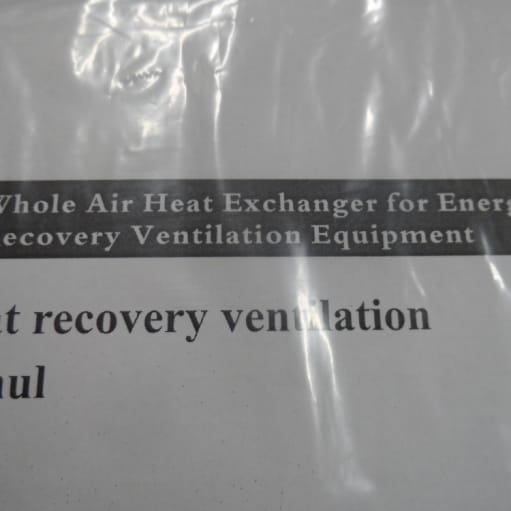 Whole Air Heat Exchanger for Energy Recovery Ventilation Equipment – nyt og ubrugt