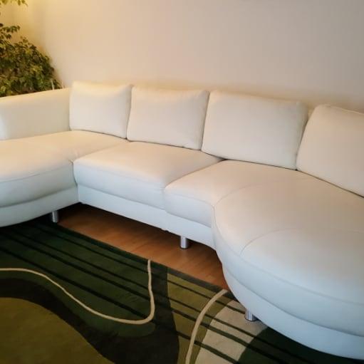 Nye Hvid læder sofa sælges EE-13