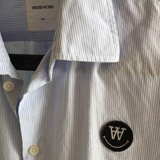 !! Wood Wood skjorte sælges billigt !!