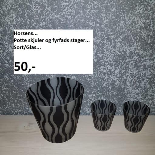 Urtepotte og Fyrfas stager