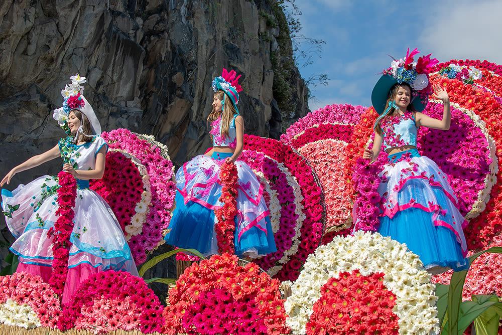 Фестиваль цветов на острове Мадейра. Festa da Flor 2019.