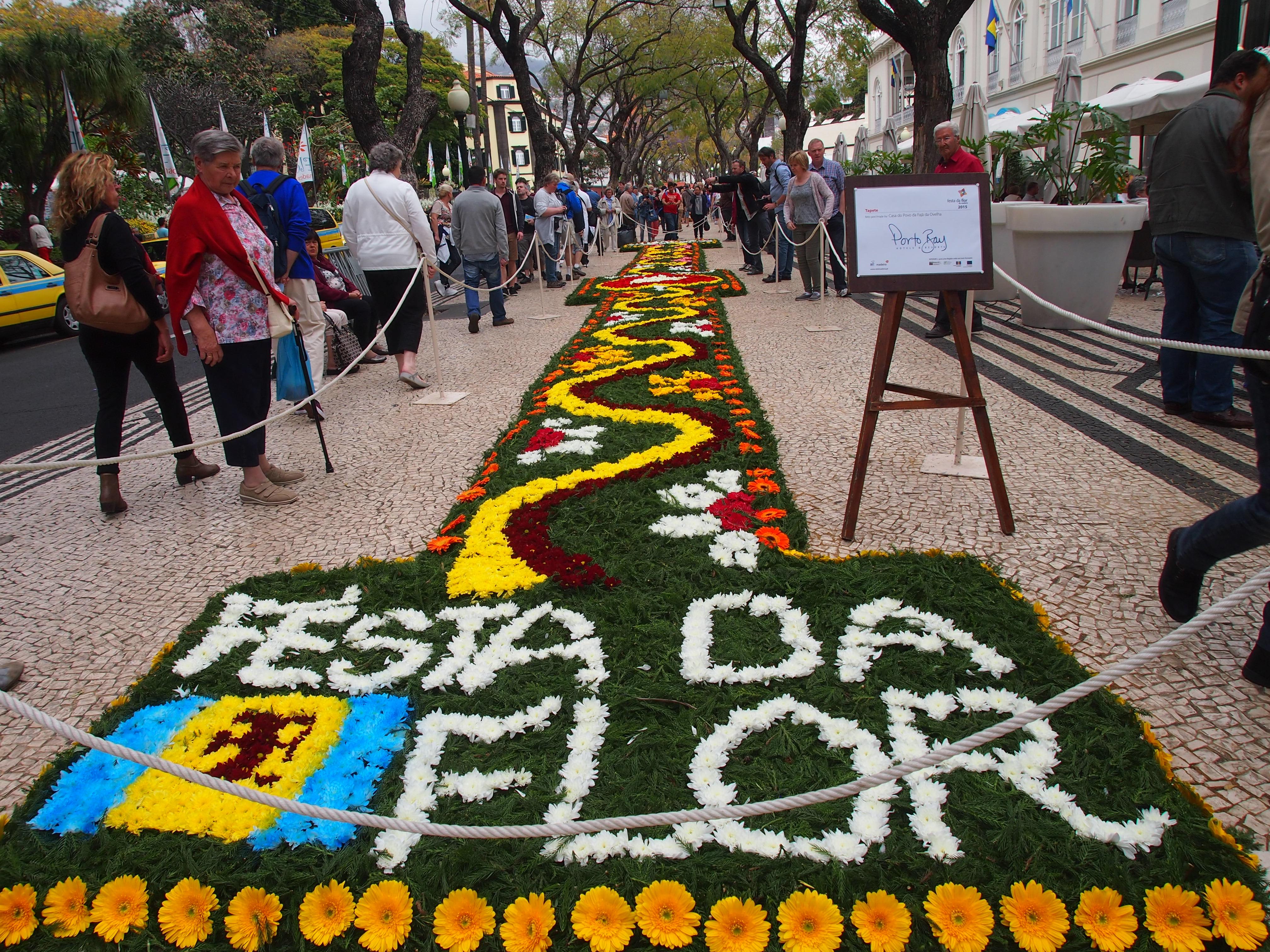 Фестиваль цветов на острове Мадейра. Festa da Flor. Цветочные ковры.