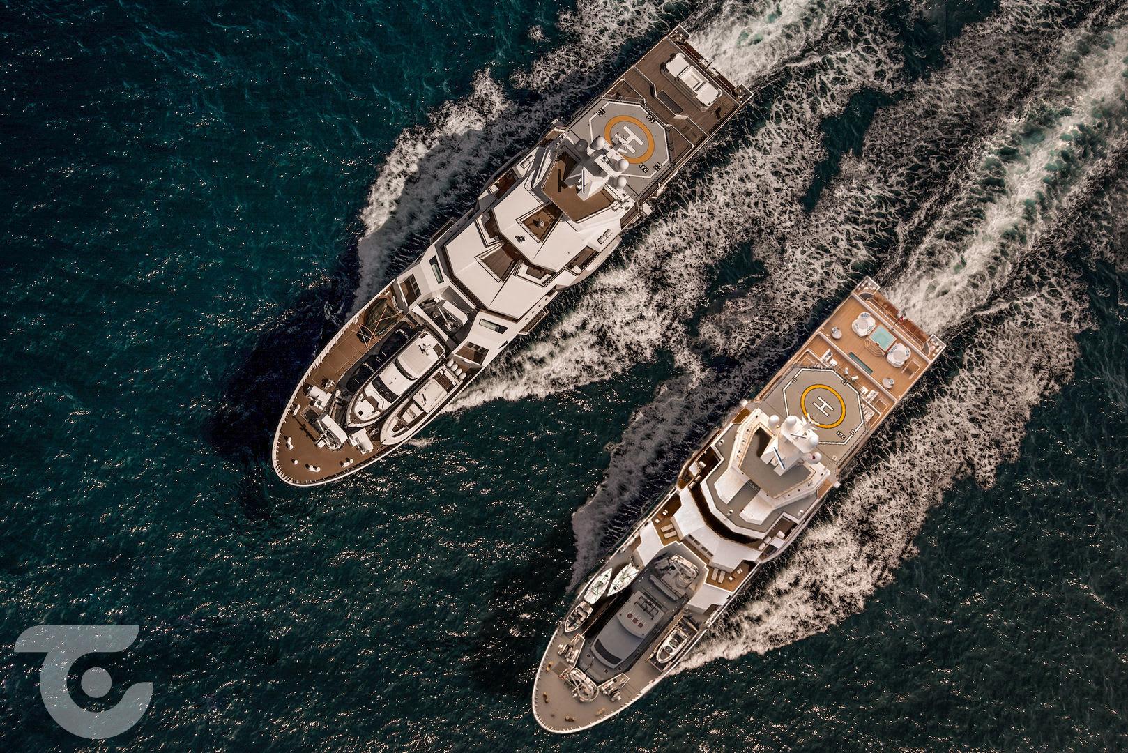 Исследовательские яхты 107m  и 116m Ulysses