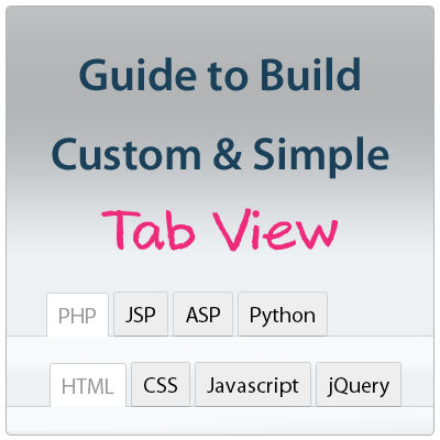 Build custom and simple Tab View