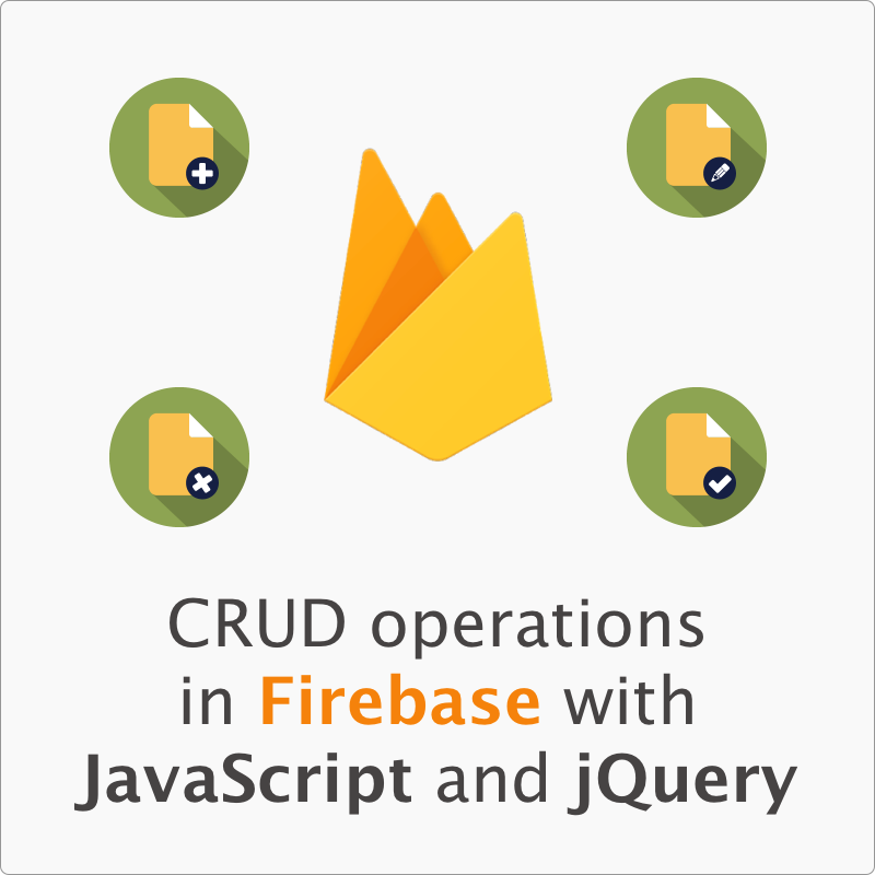 Firebase CRUD operations with JavaScript and jQuery