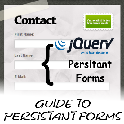Persistent Form data using jQuery