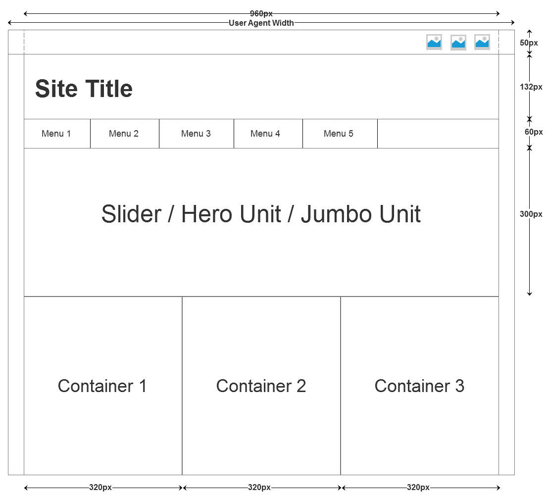 Site Layout for Bootstrap