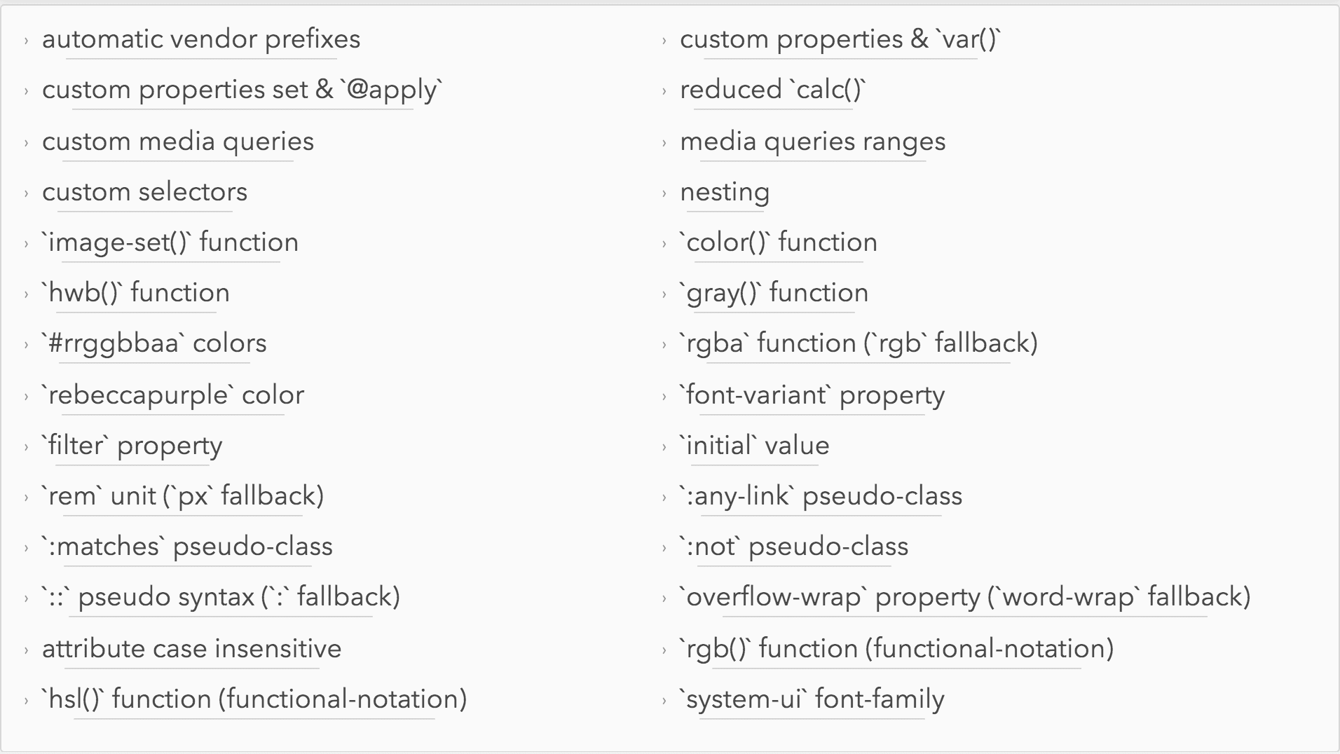 cssnext.io-features