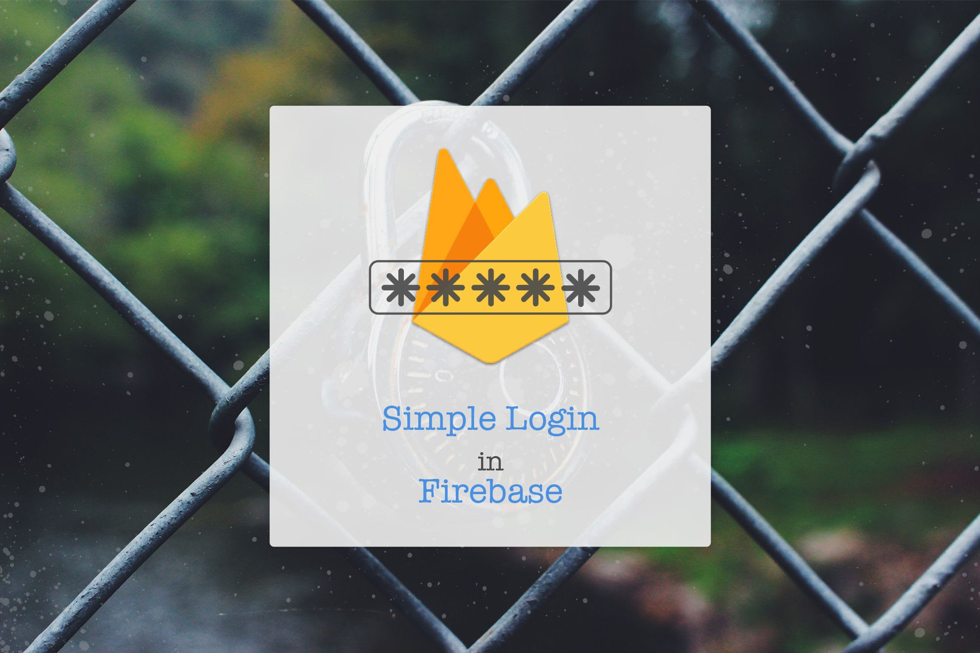 Simple Login in Firebase Web API
