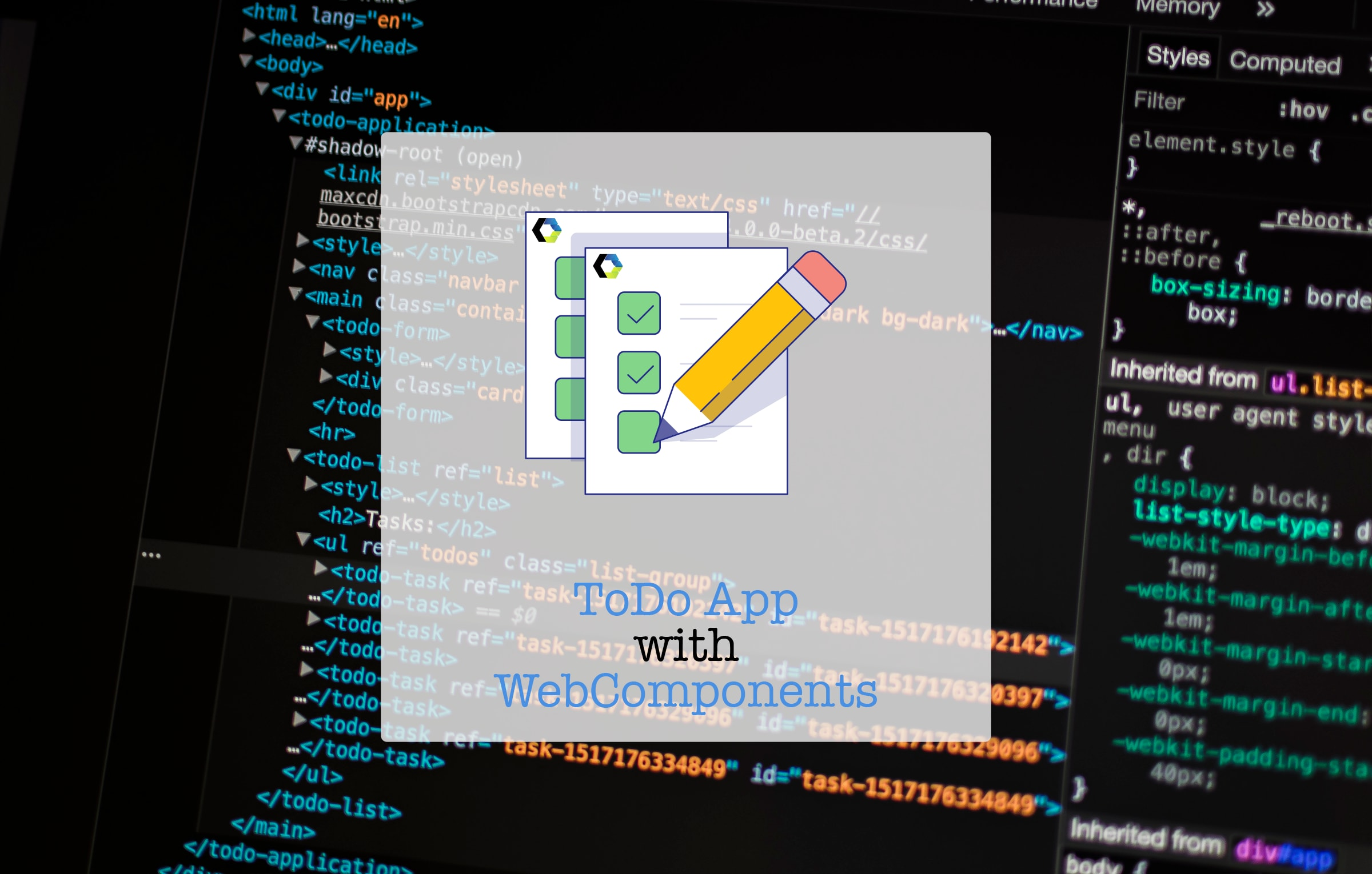 ToDo App with WebComponents