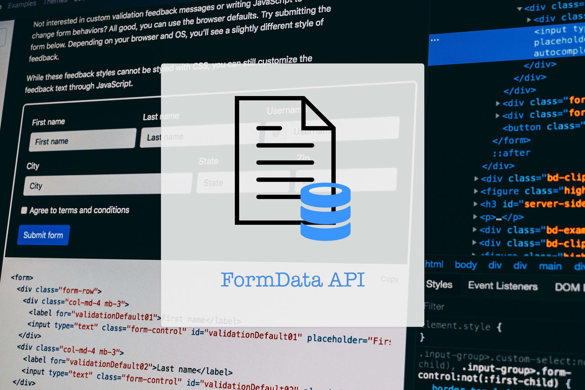 FormData API: Handle Forms like Boss - Time to Hack
