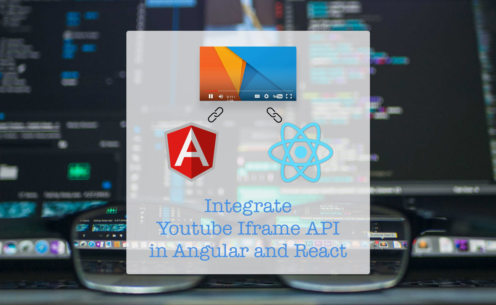 Easiest way to integrate Youtube Iframe API in Angular and React