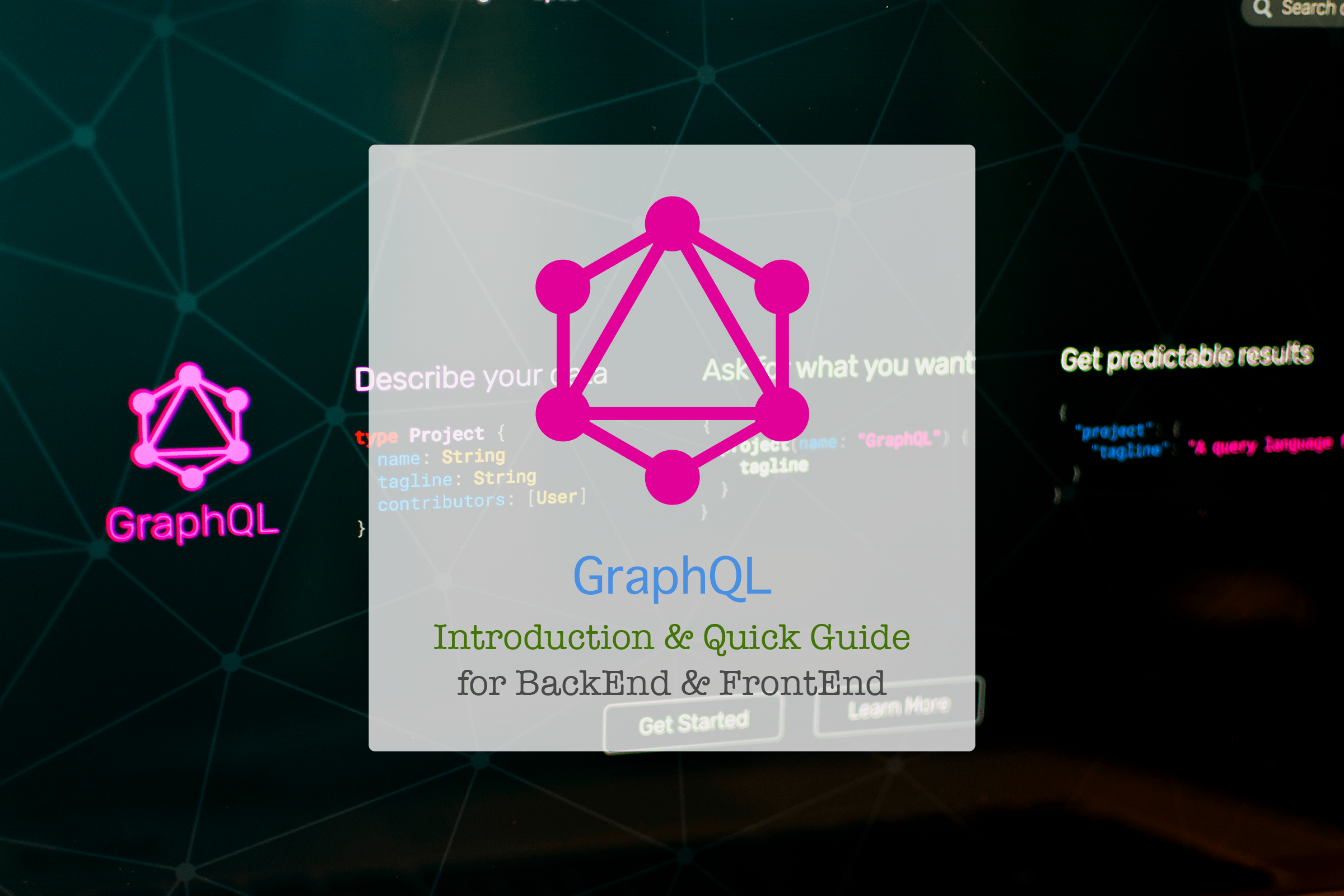 ⚡️Intro & Quick Guide to GraphQL for BackEnd & FrontEnd: Time to Hack