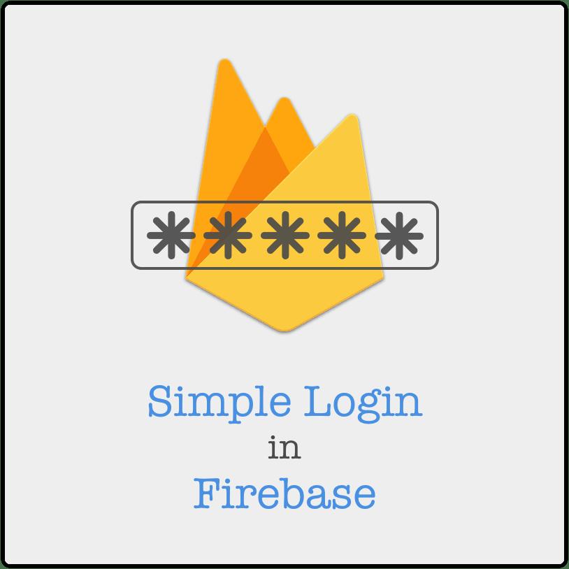 Simple Login in Firebase Web API