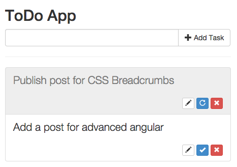 ToDo App with Bootstrap and AngularJS