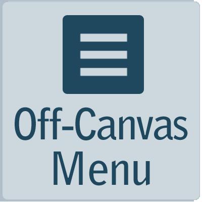 off-canvas navigation menu