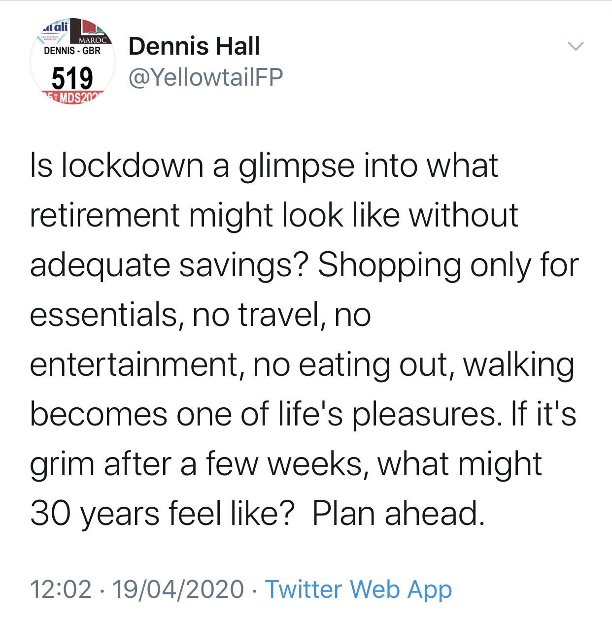 Lockdown Lessons: Retirement Run Dry