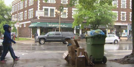 Global recycling crunch ends up hitting the streets in NDG
