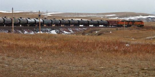 Canadian crude by rail exports to the U.S. hit 3-year high