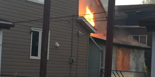 Crews battle North End fire