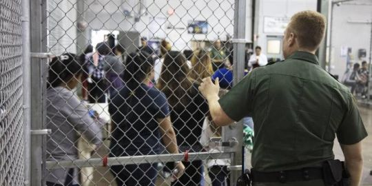 Trump loyalists defend immigration policy as pictures emerge of kids in 'cages'