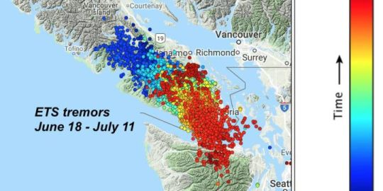 You couldn't see it or feel it, but Vancouver Island just moved away from the coast