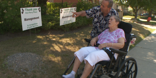 'I call them angels': Oshawa man thanks staff caring for his wife of 50 years