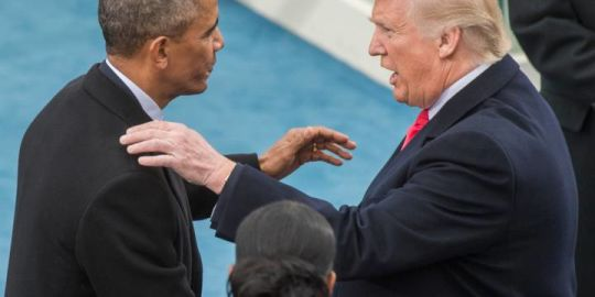 Donald Trump on Twitter asks why Barack Obama did not act on claims of Russian election meddling