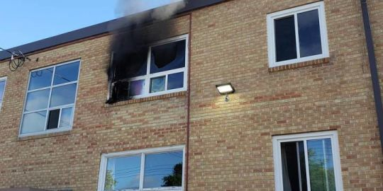Apartment fire on Kildare East sends one to hospital in critical condition