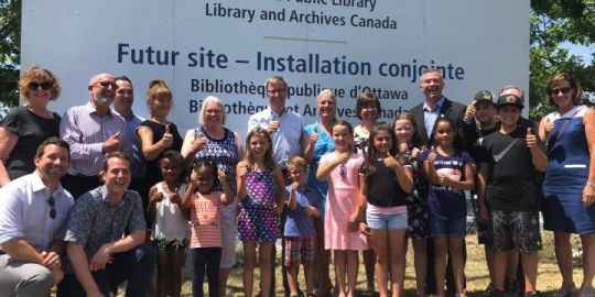 City dedicates future site of joint central library branch, Library and Archives facility