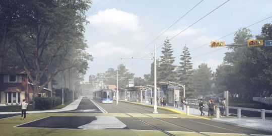 1-way traffic on part of westbound Stony Plain Road now part of Edmonton's LRT plan