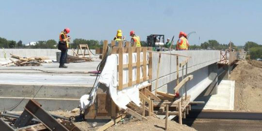 Overpass construction progressing at Martensville, Warman on schedule
