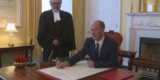 Tory Rushton sworn in as 17th member of Nova Scotia's Opposition